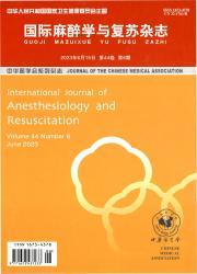 《国际麻醉学与复苏杂志》